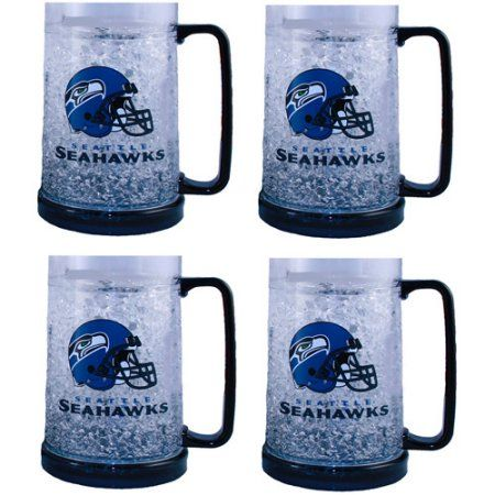 NFL Crystal Mug, 4pk, Clear