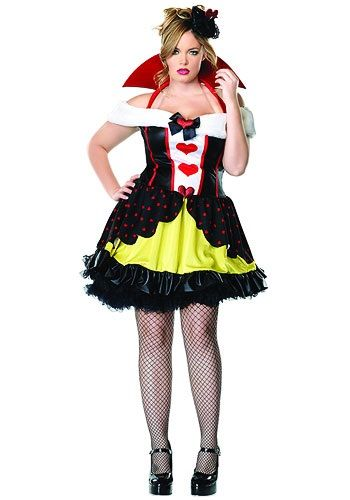 Plus Size Sexy Queen of Hearts Costumes  Make up Pinterest - halloween costume ideas plus size