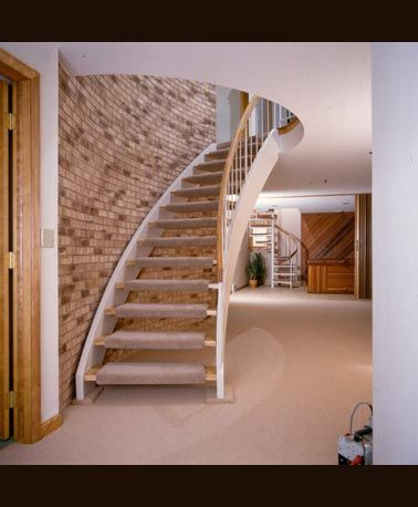 Custom Stairs | Stringer Staircase With Carpeted Stair Tread From Stair.com  #CustomStairs #