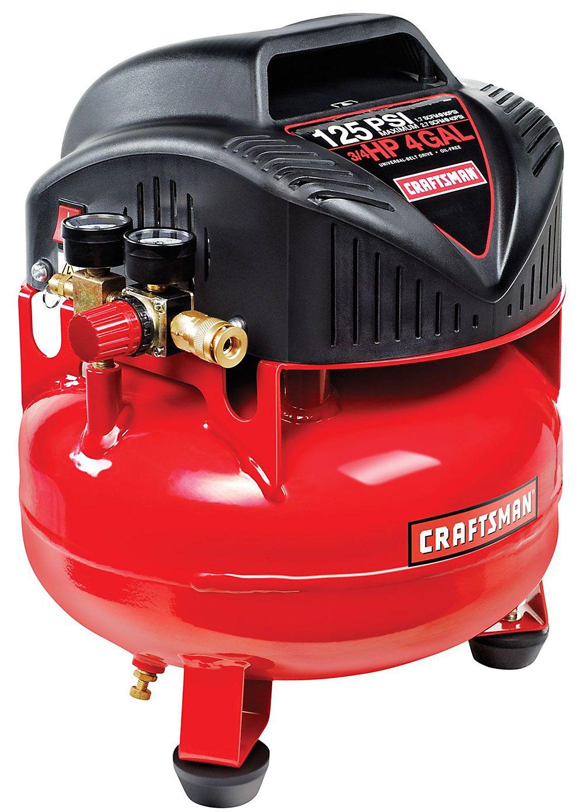 Craftsman 4 Gal Pancake Air Compressor Get Great Deals At Sears Pancake Air Compressor Craftsman Air Compressor Air Compressor
