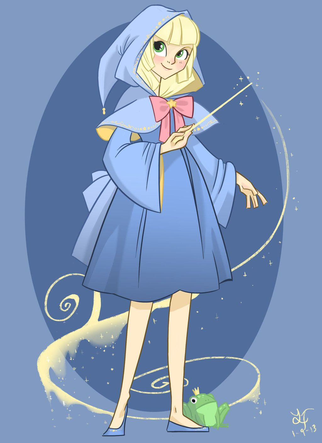 Young Fairy Godmother By Parfywarfy On Deviantart Disney