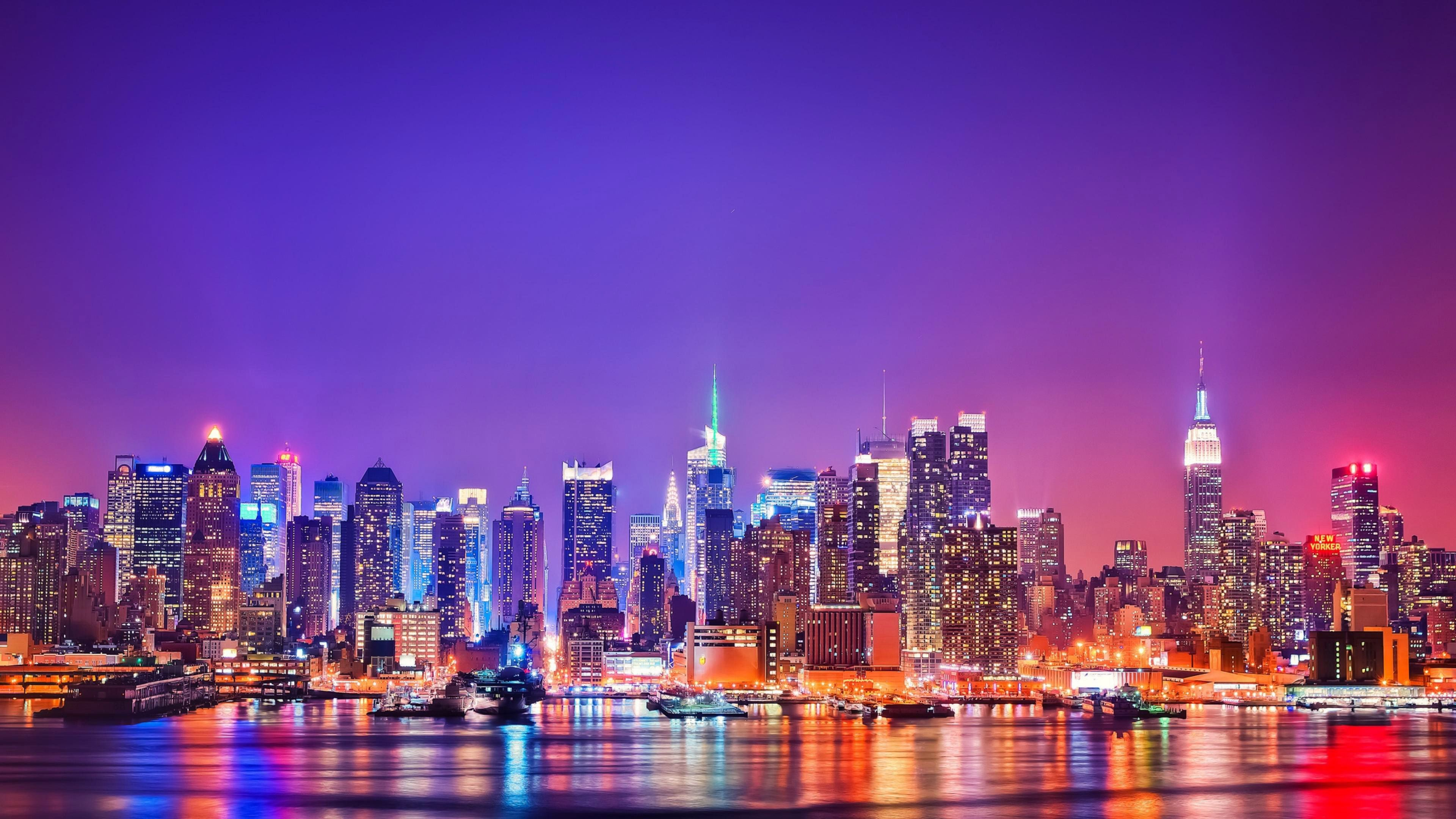 Attachment File Of America Smart City Wallpapers With New York View At Night New York City Background City Wallpaper New York Skyline