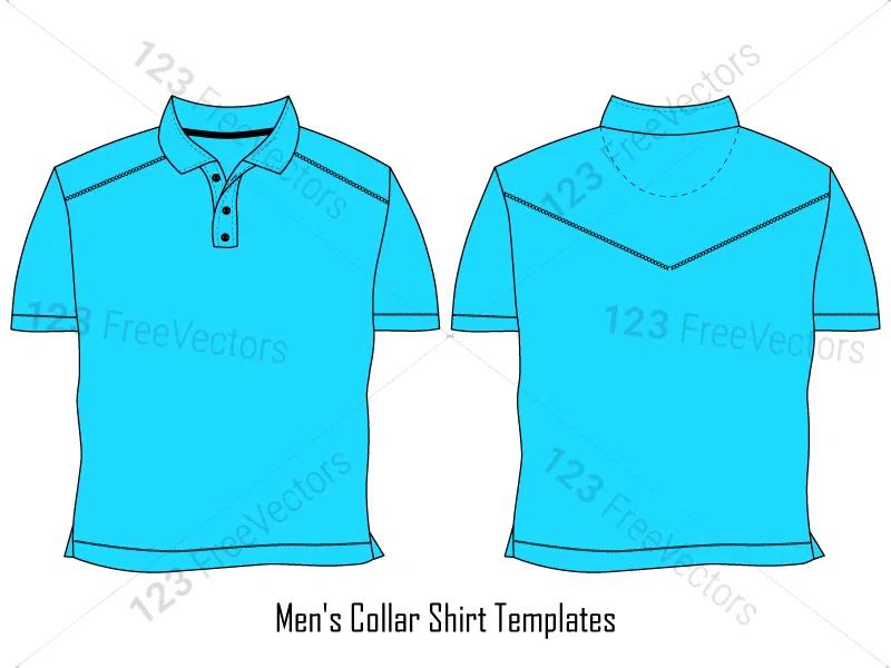Download Men S Collar T Shirt Template Vector And Psd Pack 01 Shirt Template Shirts Collar Tshirt