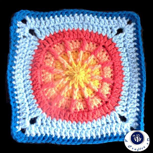 Summer sun granny square - free crochet pattern | Web Patterns ...