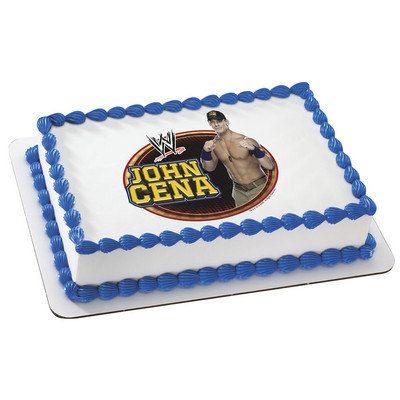 World Wrestling John Cena Edible Cake and Cupcake Topper For