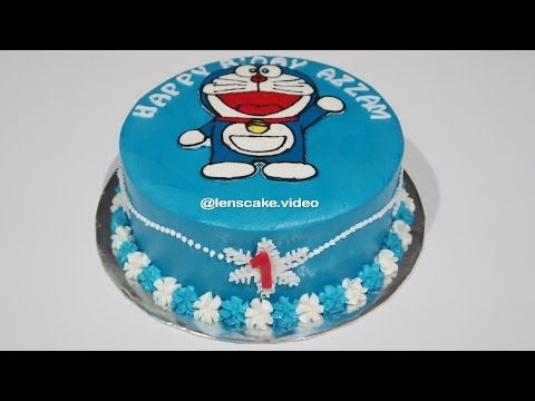 How To Make Birthday Cake Doraemon Easy Cara Membuat Kue