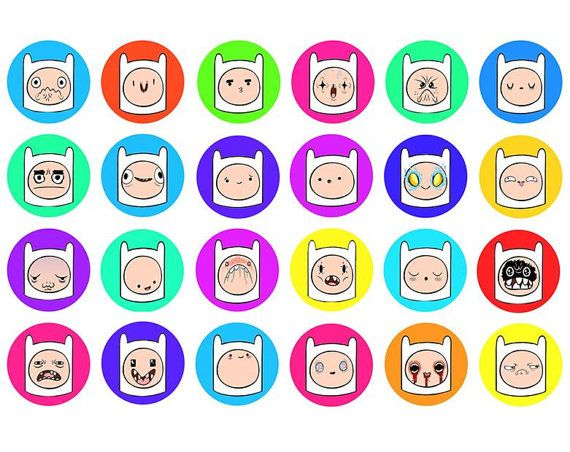 ADVENTURE TIME Finn Faces Set of 24  1 Inch by ButtonsMagnetsMore, $9.99    15% OFF SALE! FRIDAY NOVEMBER 23RD 2012! - Use the coupon code BLACK15 at checkout to receive 15% off your order!