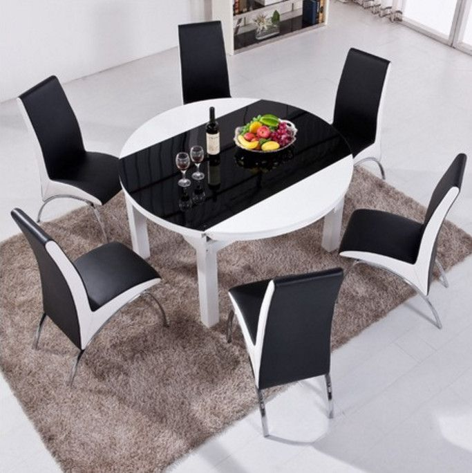6 Person Round Dining Table