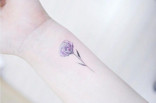 purple rose small tattoo on wrist small tattoos pinterest small tattoo tattoo and purple. Black Bedroom Furniture Sets. Home Design Ideas
