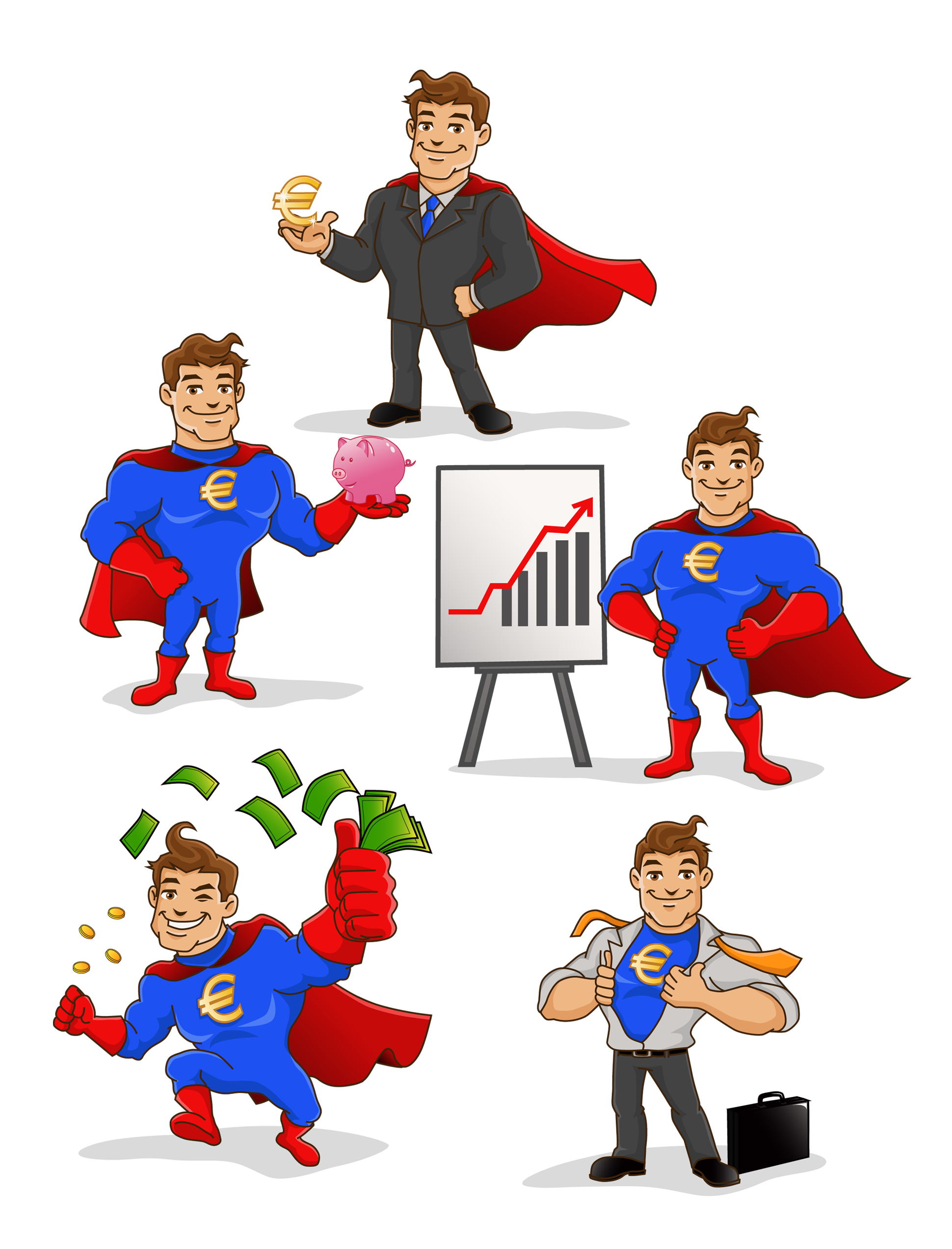 superhero personal finance blog Mascot design, Character