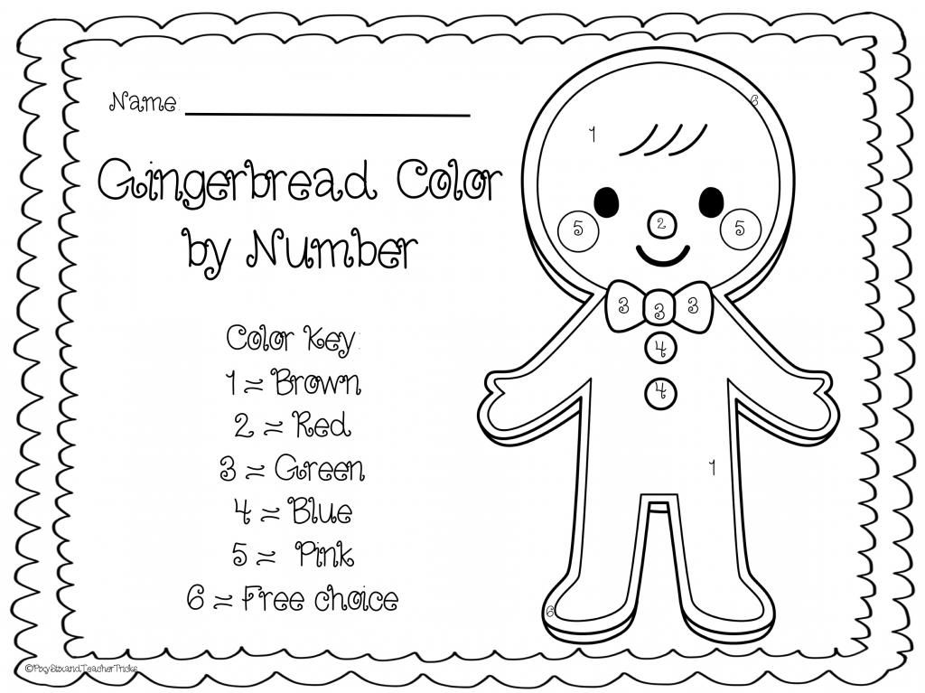 Pixy Stix and Teacher Tricks: FREEBIE - Gingerbread Man Color by Number