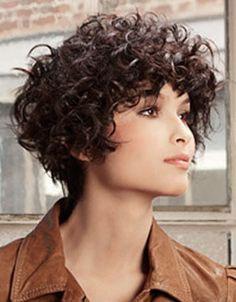 Pelo Corto Y Rizado Peinados Buscar Con Google Barriga - Hairstyle for curly short hair round face