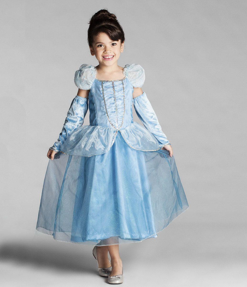 fantasia infantil vestido princesa cinderela com luvas tam 2 a 10