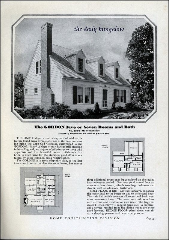 Homes of Today Sears Kit Houses 1932. Homes of Today Sears Kit Houses 1932   House  Vintage house plans