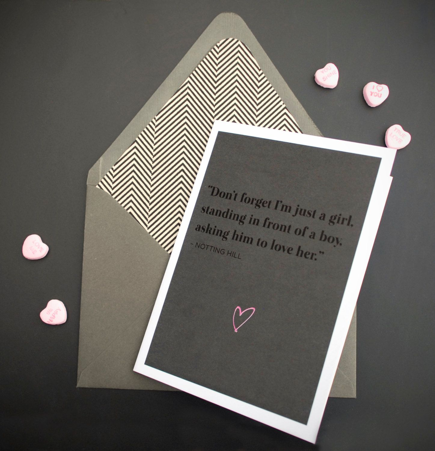 Valentine's Day Card Movie Quote Notting Hill Movie