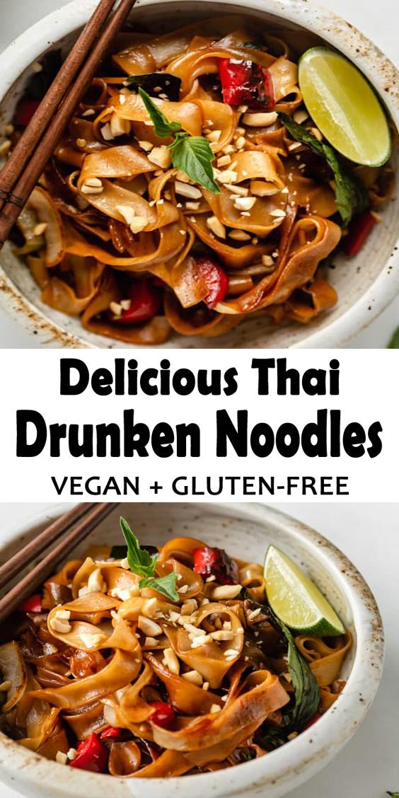 Thai Drunken Noodles Recipe (Vegan, Gluten Free)