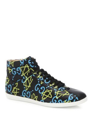 a4ee7b8dd57 GUCCI Ghost High-Top Sneakers.  gucci  shoes  sneakers