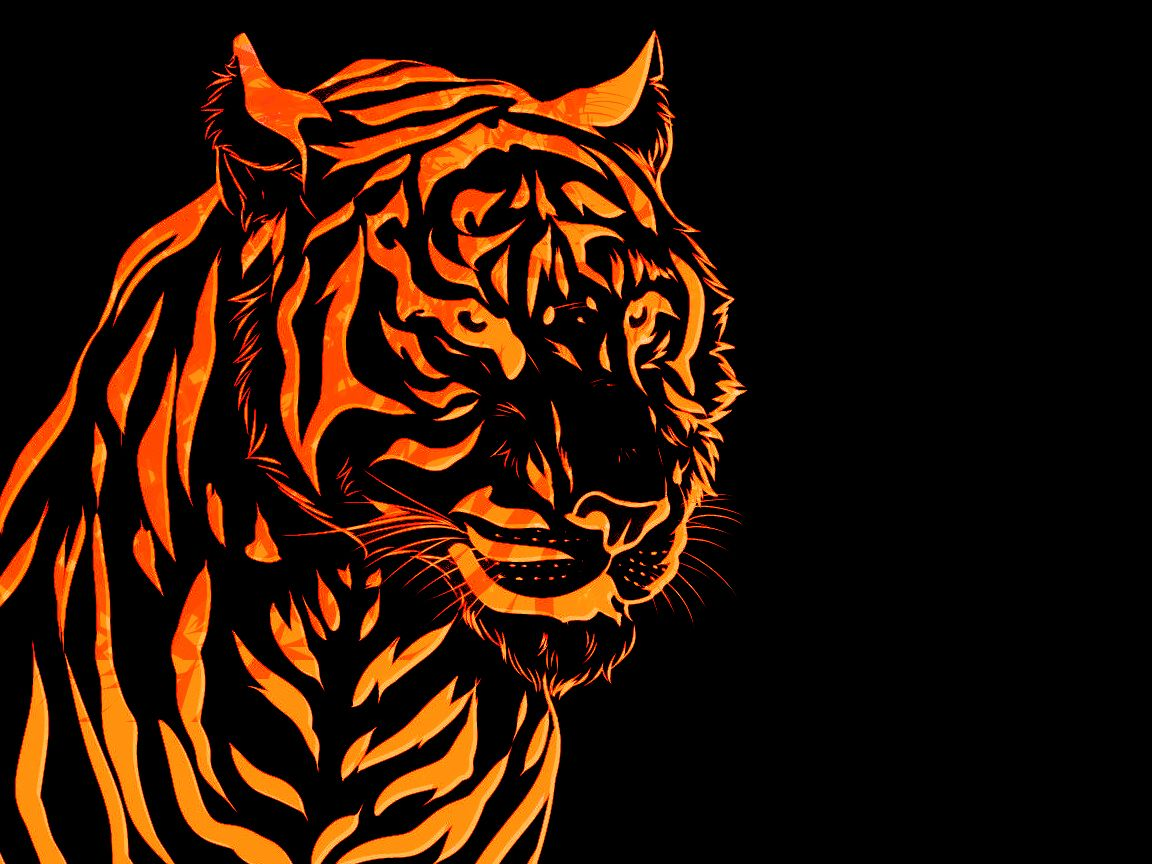 Fire Tiger Wallpaper By Krthompsonart Deviantart Com On Deviantart