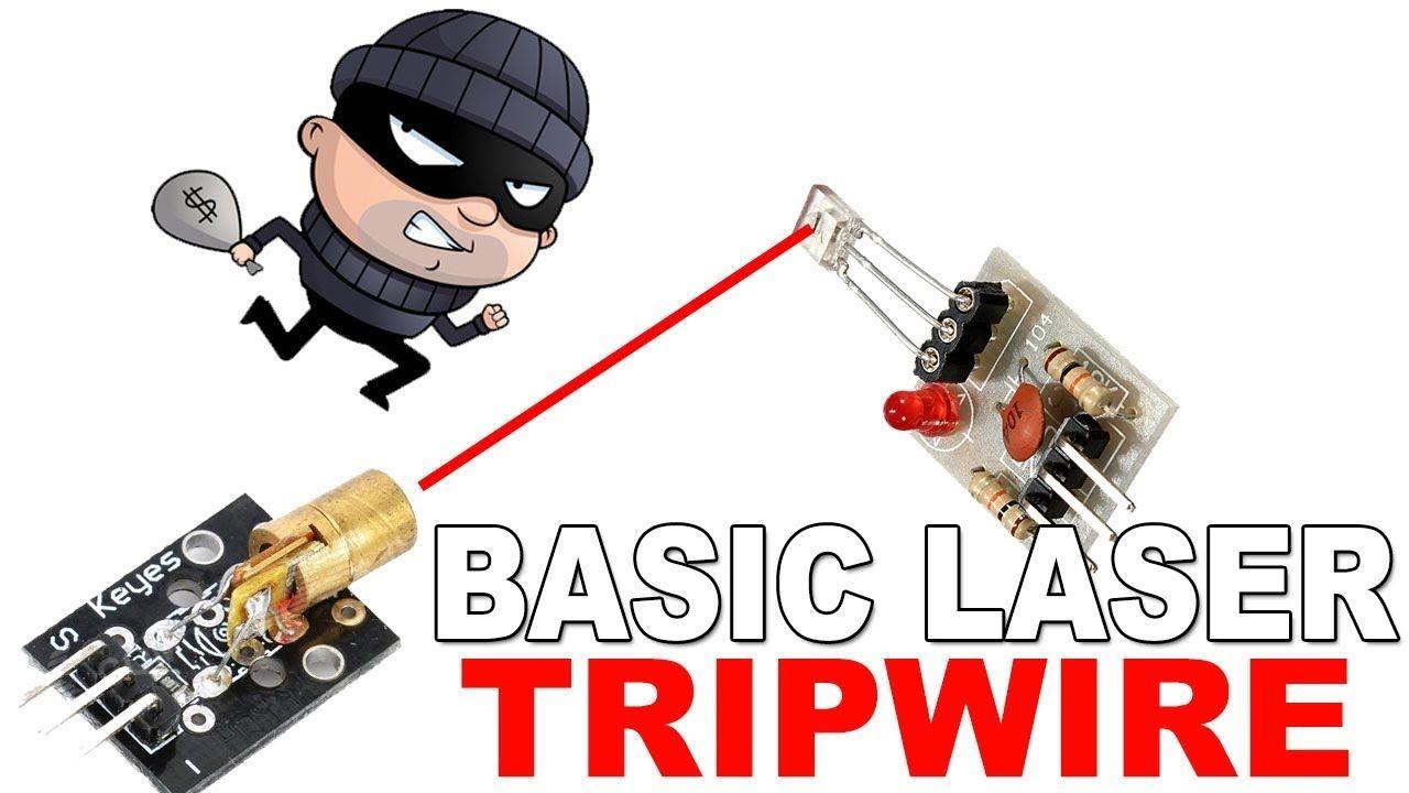 Easy Arduino Basic Laser Tripwire Security Alarm Laser Tripwire Tripwire Security Cameras For Home