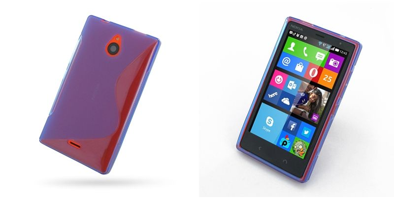 PDair Soft Plastic Case for Nokia X2 Dual SIM (Blue/S
