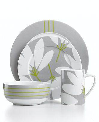 Echo Design Dinnerware, Fan Floral Collection - Casual Dinnerware - Dining & Entertaining - Macy's