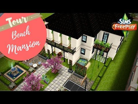 URBAN MANSION   Sims Freeplay House Designs   YouTube