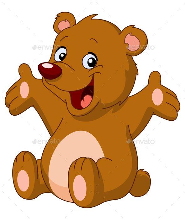 Happy Teddy Bear Teddy Bear Cartoon Bear Cartoon Happy Elephant