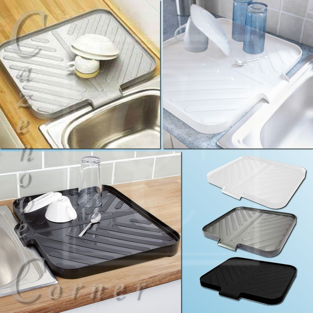 Plastic Dish Drainer Tray. Large Sink Drying Rack. Worktop Dish ...