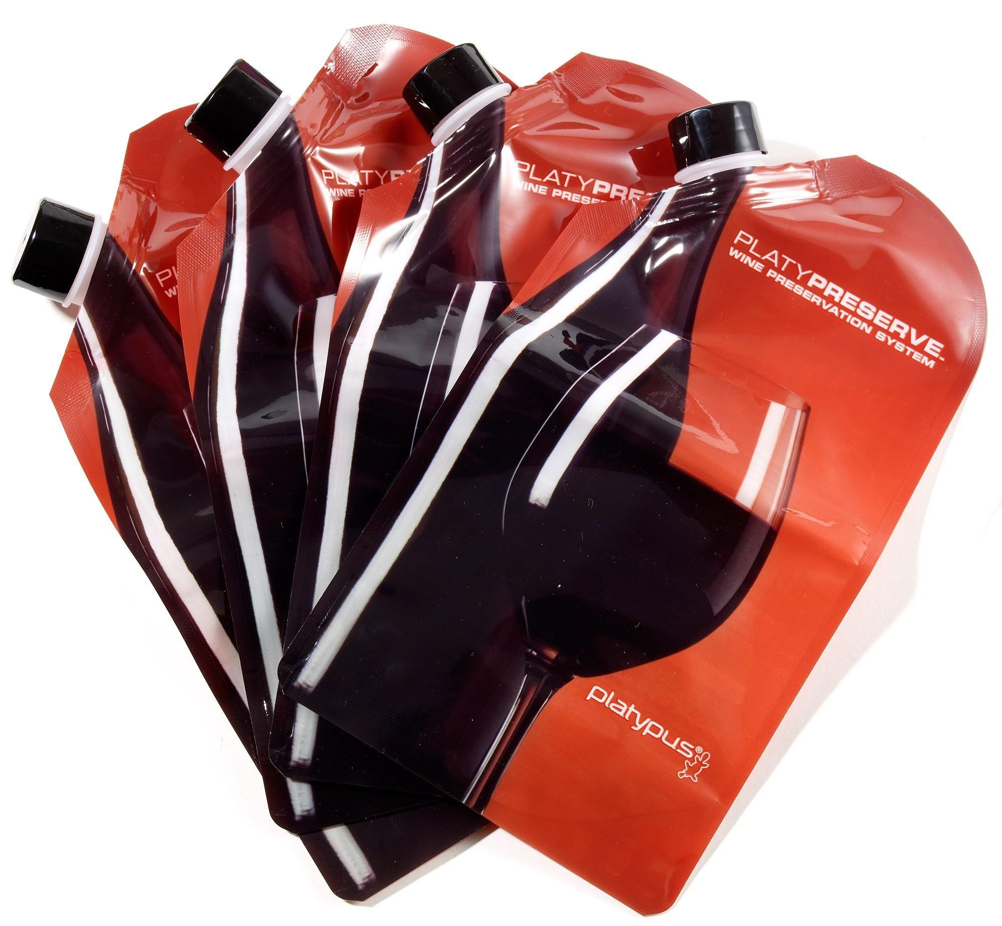 Platypus Platypreserve Wine Preservation System Package Of 4 Wine Preserver Wine Flask Wine