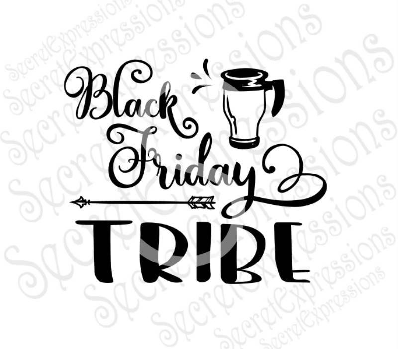 Black Friday Tribe Svg, Coffee, Thanksgiving, Fall, Digital SVG File for Cricut or Silhouette, DXF, Png, Jpg, Eps, Print File