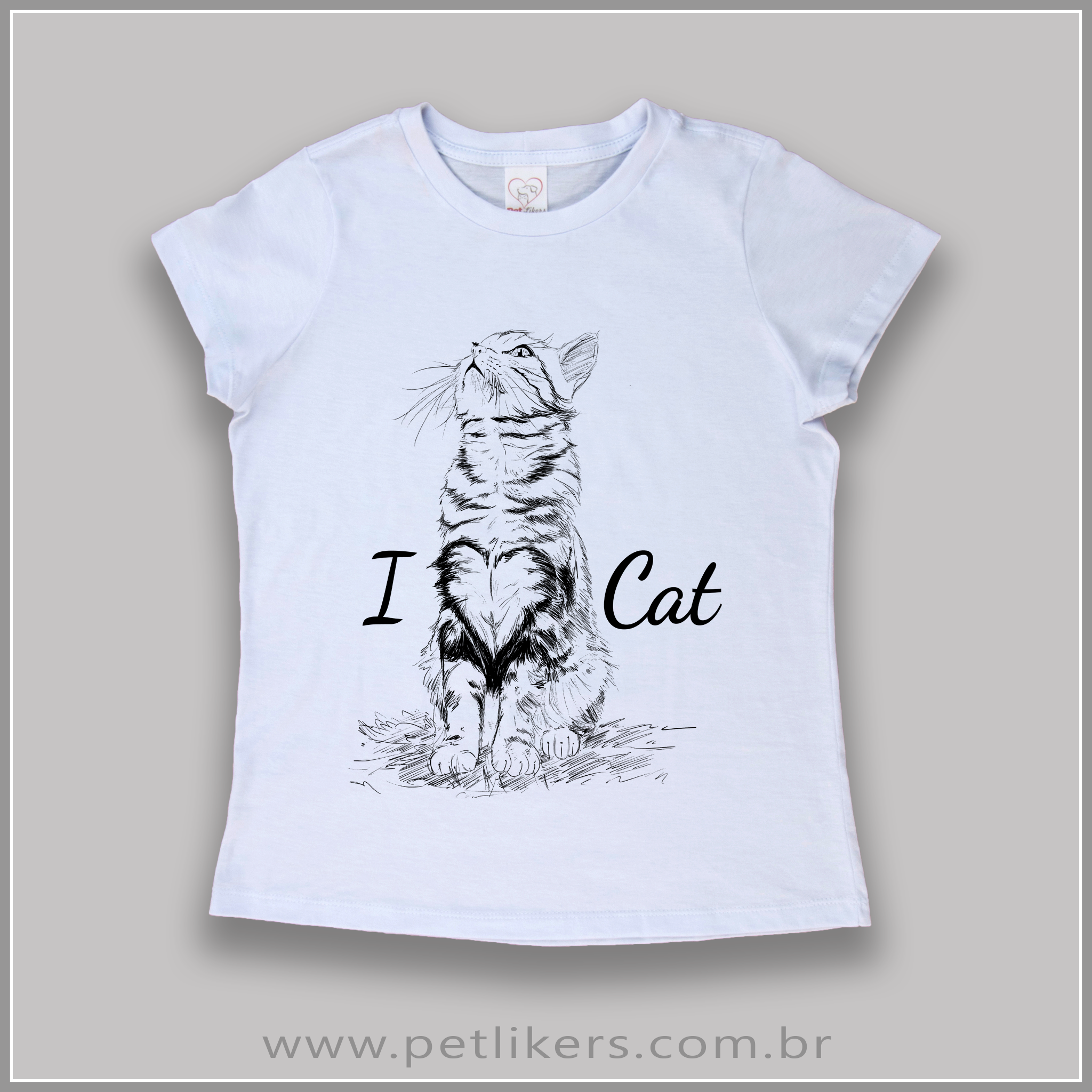 11bc848dec9 T-Shirt   Camiseta Feminina - Estampa Gato