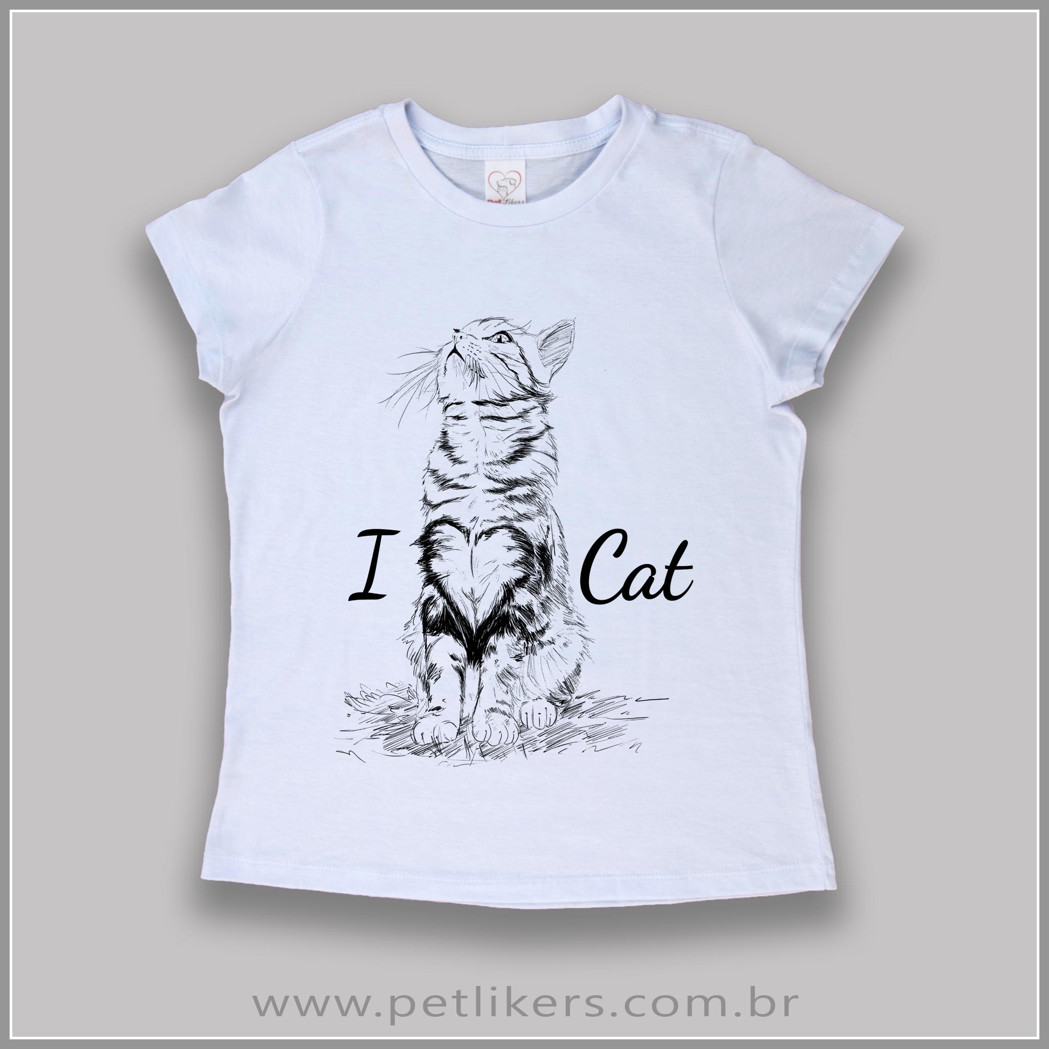 T-Shirt / Camiseta Feminina - Estampa Gato \