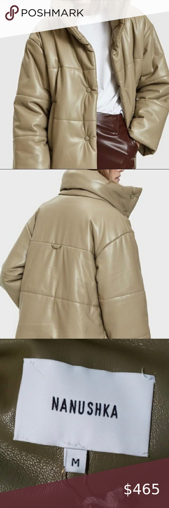 Nwt Nanushka Gide Vegan Leather Puffer Jacket Coat Nwt Nanushka Gide Vegan Leather Puffer Jacket Coat In Khaki But It L Leather Puffer Jacket Nanushka Jackets [ 1740 x 580 Pixel ]