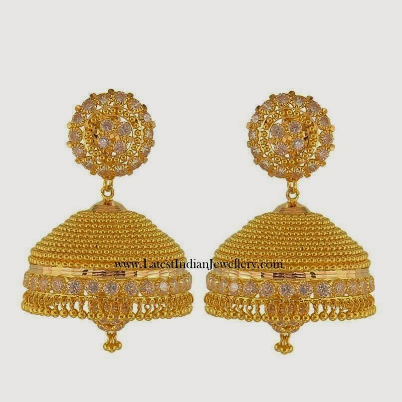 Gold Jhumka designs with weight and price - Latest Jewellery ...