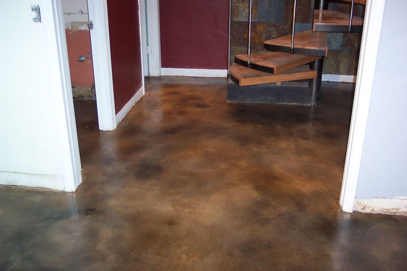 Stained concrete floor colors purple stained concrete for Residential concrete floors