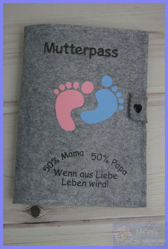 MaMa /& PaPa  Baby Spruch Filz Bestickte Mutterpasshülle Hülle Mutterpass