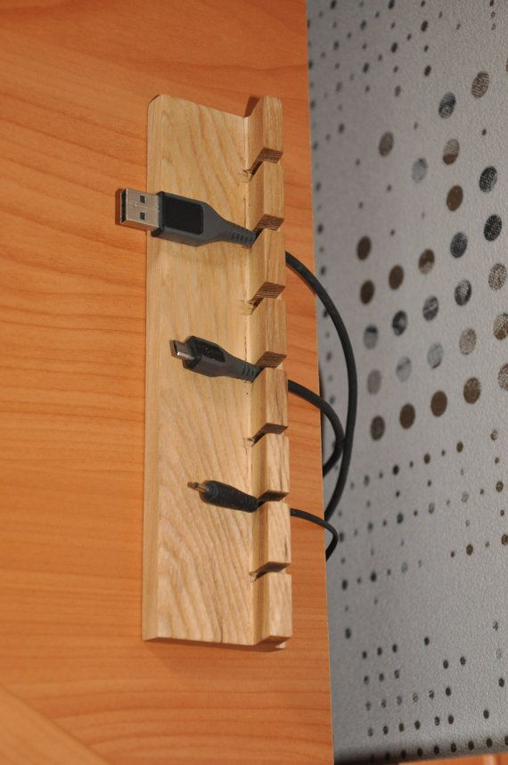 Wooden Cable and Charger Organizer, Cord holder, cord organizer ...