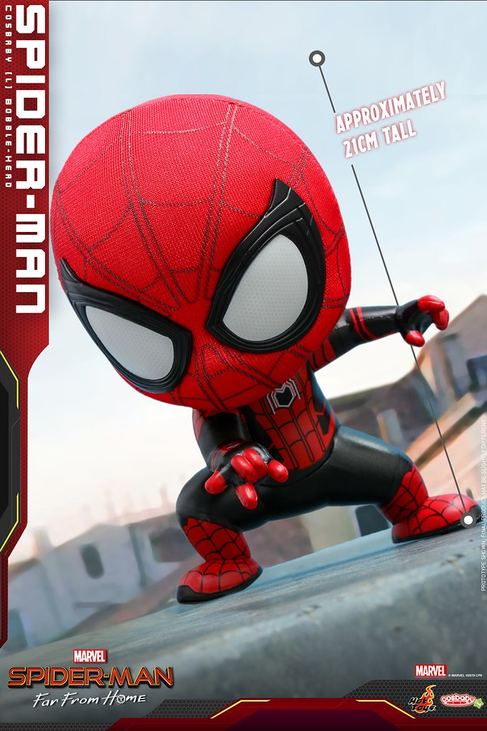 最可愛的好鄰居 Hot Toys Cosb628 Cosb634 蜘蛛人 離家日 Spider Man Far From Home Cosbaby Bobble Head Series Spiderman Hot Toys Action Figures