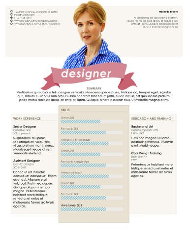 Headshot - Free Resume Template by Hloom.com | Branding ...