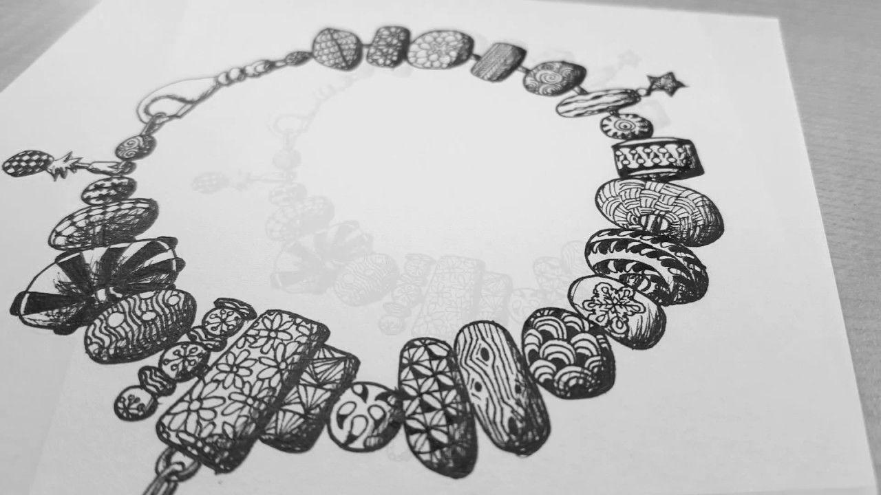 Afbeeldingsresultaat voor zentangle bracelet Polymer clay beads