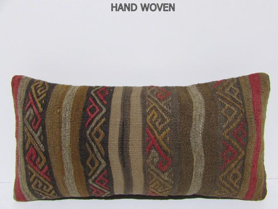 kilim pillow tribal cushion cover unusual decor extra large pillow