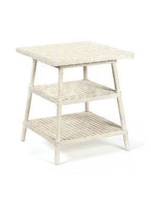 3 Tier Side Table In White Finish For Storage Decor Home Office Furniture Shelves Coffee End Table Wooden Squar Wood End Tables Convenience Concepts End Tables