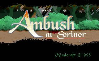 Mindcraft Software released Ambush at Sorinor in the year 1993; it's an old fantasy strategy game, part of the Magic Candle series.