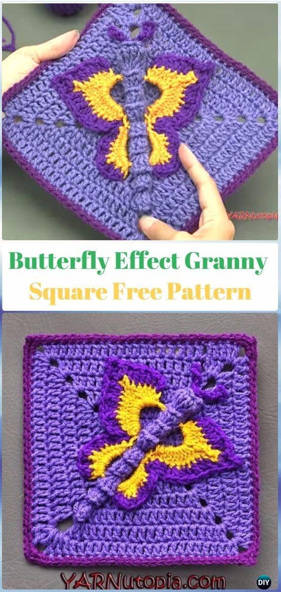 Crochet Butterfly Effect Granny Square Free Pattern Crochet
