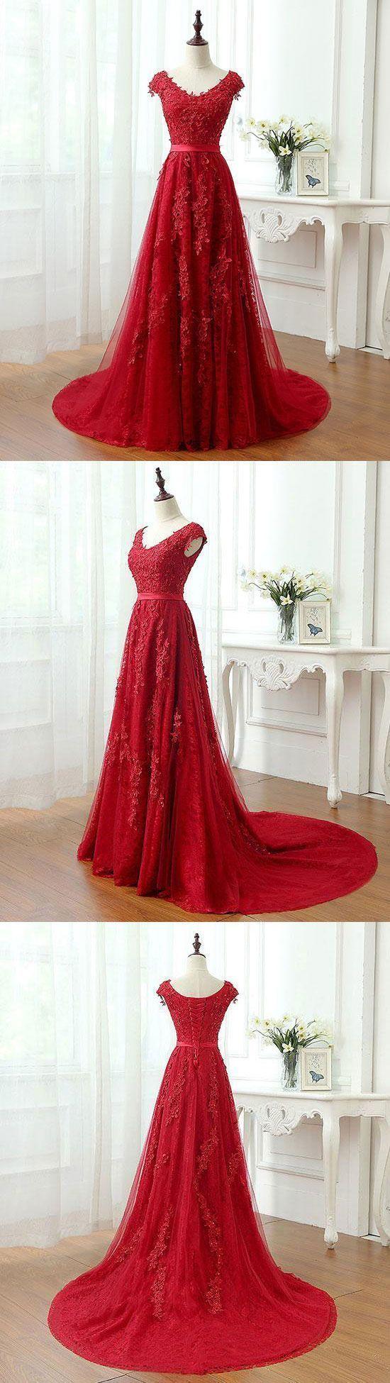 Elegant appliques aline prom dresseslong prom dressescheap prom