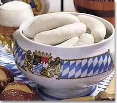 Echte Weißwurst, Bayern, Bavaria Ich liebe typisch bayrische Weißwurst - das erste Mal gegessen, 2008 in Oberjoch!