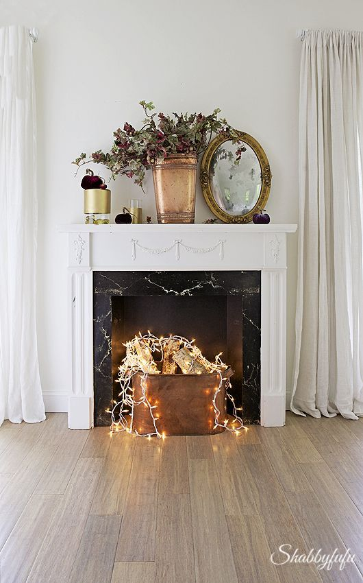Photo of Fake Fireplace Idea | When You Don't Have A Real One