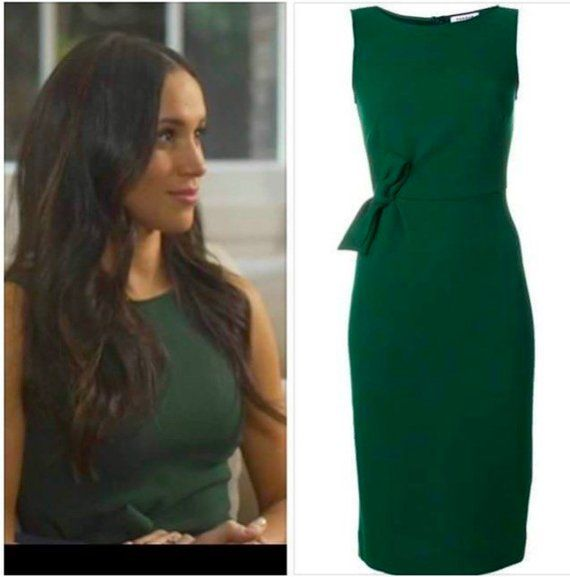 Duchess Meghan Markle Inspired Green Engagement Dress Custom Made