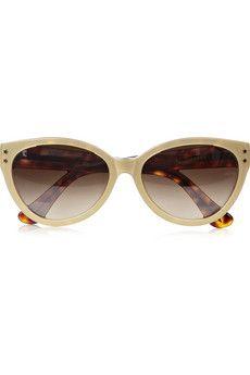 Cutler and Gross - Cat eye metallic acetate sunglasses