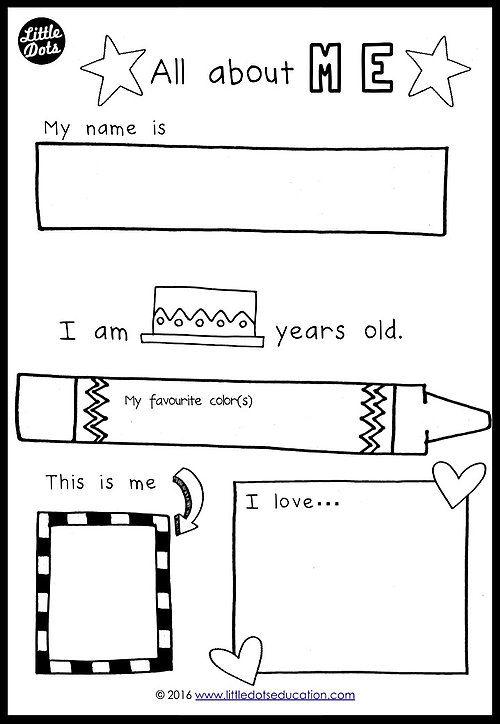 Free Preschool Themes Printables   Little Dots Education